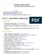 Aquaculture (Fish) Engineering - Lecture Notes, Study Materials and Important questions answers