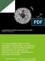 Indice Prgreso Social 2016