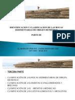 IDENTIFICACIÓN Y CLASIFICACIÓN DE ROCAS SEDIMENTARIAS DE ORIGEN DETRÍTICO. Parte III