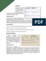 Certificación de Deposito