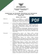 SK Kades tentang Tim Pelaksana Penjaringan & Penyaringan Perangkat Desa