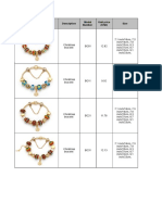 Catalog a for Complete Bracelets and Necklaces