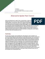 alternative spider pest control