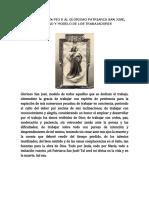 Oración de San Pio x Al Glorioso Patriarca San José