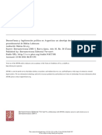 Desconfianza y legitimación política en Argentina
