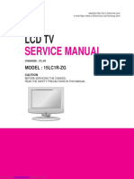 LG LCD TV SERVICE MANUAL 15lc1rzg