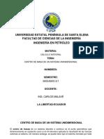 CENTRO DE MASA DE UN SISTEMA UNIDIMENSIONAL