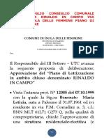 2005 8 Luglio Consiglio Comunale Delibera 24 Rinaldo in Campo via Liberta' Isola Delle Femmine Piano Di Lottizzazione