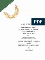 Reflexiones Sobre La Violencia y El Teatro Para La Infancia y La Juventud