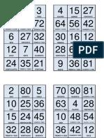 Loteria de Multiplicaciones
