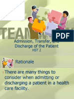 Admision and Discharge