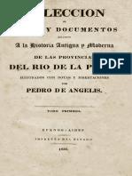 Derrotero a Ciudad de Los CC Pedro de Angelis 1836