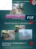 Fenómenos Hidro-Ambientales en El Perú-Huánuco