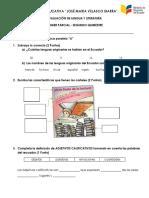 Examen de Lengua y Literatura Cuarto Parcial Tercero