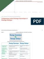 Comparaison Entre Routage Dynamique Et Routage Statique _ Réseaux Informatiques