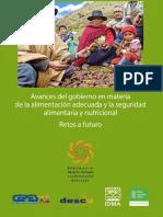Avances Del Gobierno en Materia de La Alimentación Adecuada y La Seguridad Alimentaria y Nutricional