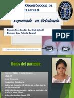 Defensa de Caso Clinico ORTODONCIA