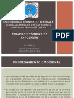 Diapositivas - Terapias y Técnicas de Exposición