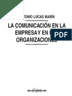 La Comunicación en La Empresa y en Las Organizaciones