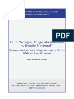 Arregui, Diego Maximiliano. Responsabilidad Civil - Espectáculos Públicos -Ong Sin Fines de Lucgr