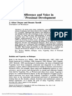 Cheyne, J. a.; Tarulli, D. -- Dialogue, Difference and Voice in the Zone of Proximal Development