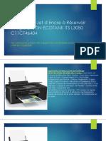 Imprimante Jet d'Encre à Réservoir Intégré EPSON ECOTANK