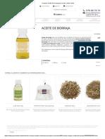 Comprar Aceite de Borraja Para La Piel. Venta Online
