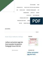 Latihan Soal Pretest Ppgj Dan Kunci Jawaban Kompetensi Pedagogik Sesuai Kisi-kisi - Info Guru Indonesia