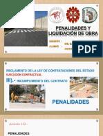 penalidades y liquidación de obra