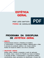 1.a Estética g. - Plano de Ensino 2018