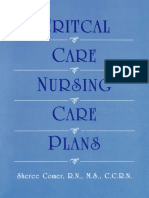 RN, MS, CCRN, Sheree Comer - Critical Care Nursing Care Plan (1998)