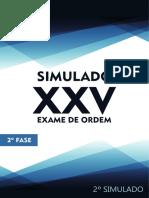 2º Simulado OAB de Bolso D. Trabalho - 2ª Fase XXV Exame de Ordem