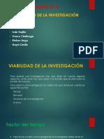 Viabilidad de La Investigacion
