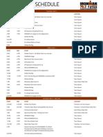 2018 70.3 St George Schedule