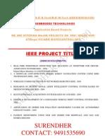 SVSEMBEDDED MAJOR Major Devided Project List2010-11