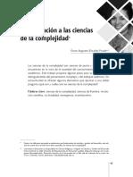 Aproximación a las ciencias de la complejidad. Óscar Augusto Elizalde Prada