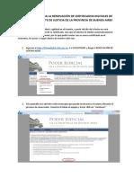 Instructivo RENOVACION de Certificado Instalación AC RAIZ