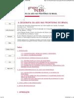 A Geografia Da Aids Nas Fronteiras Do Brasil