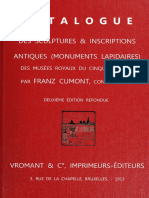 HQ Franz Cumont - Catalogue des Sculptures & Inscriptions Antiques HiRes (Monuments Lapidaires)