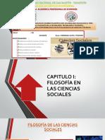 FILOSOFÍA EN LAS CIENCIAS SOCIALES