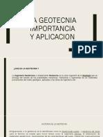 Geotecnia Importancia y Aplicacion