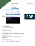 Criar Pendrive Bootável Através Do Prompt de Comando MS-DOS