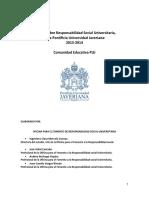 Estudio Sobre RSU en La PUJ, 2013-2014. Comunidad Educativa (1)