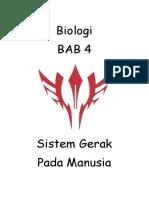 Makalah Bab 4 Sistem Gerak Manusia