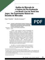 Bardella; Sotomayor - Redesenho e Análise Do Mercado de Admissão Aos Centros de Pós-Graduação Em Economia No Brasil