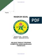 Soal dan Kunci Jawaban KSM Bidang Geografi MA 2015.pdf