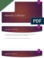Mimetic Criticism