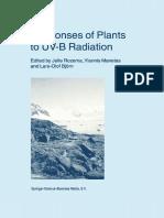 (Advances in Vegetation Science 18) Lars Olof Björn, Ting Wang (Auth.), Jelte Rozema, Yiannis Manetas, Lars-Olof Björn (Eds.)-Responses of Plants to UV-B Radiation-Springer Netherlands (2001)