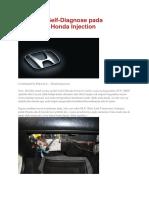 Cara Self Diagnosise Pada Mobil Honda
