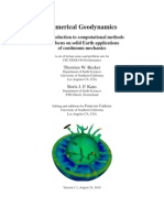 Numerical Geodynamics - An Introduction fo computational methods with focus on solid Earth applications of continuum mechanics